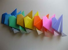 Modular 8- Pointed Star Part 1: These modules were simple to make, I think this would be a good intro to modular origami