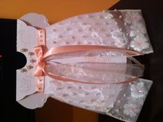 Handmade baby girl Christening dress card