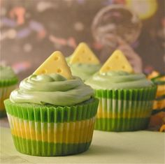 NFL Cupcakes--GO PACKERS!!!!