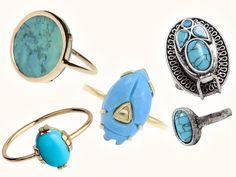 A shopper: les bijoux turquoise