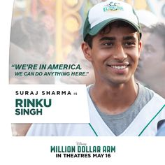 Meet Rinku: A gifted pitcher with a very odd windup. Rinku Singh, Million Dollar Arm, Hk Movie, Disney Live, Do Anything, The Dreamers, Tv Shows, My Love, Movies
