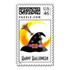 Happy Halloween Witches Hat Stamp