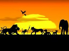 The Lion King Disney silhouette