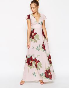 ASOS Maxi Dress In Floral Bloom Print