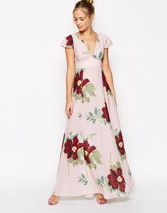 ASOS Maxi Dress In Floral Bloom Print