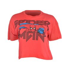 FREEZE SPIDER-MAN CROP SHIRT (€9,34) ❤ liked on Polyvore featuring tops, shirts, 10. tops., t-shirts, spiderman, red crop top, short sleeve crop top, short sleeve cotton tops, shirts & tops and red cotton shirt