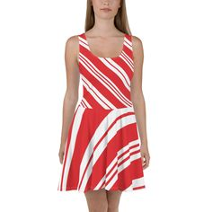 Candy Cane Skater Dress, Christmas Party Dress, Red White Striped, Holiday Outfit, Sizes Source by rrdprint outfits christmas party Plus Size Christmas Dresses, Red And White Stripes, Holiday Outfits, Flare Skirt, Dress Red, Candy Cane, Skater Dress, Dress To Impress, Party Dress