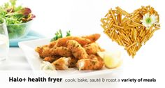 Make our Breaded Haddock Goujons with Lemon Mayonnaise recipe using the Breville® Halo+ Health Fryer. Serve the goujons with the lemon mayonnaise dip and a salad of your choice. Mayonnaise Recipe, Breaded Haddock Recipe, Low Fat Fryer, Haddock Recipes, Sandwich Toaster, Air Fryer Recipes, Serving Dishes
