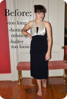 How to sew a blind hem on a formal dress:  My New Years dress alterations