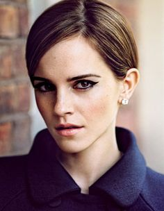 Emma Watson in T, The New York Times Syle Magazine. Love the mod cat-eye makeup!