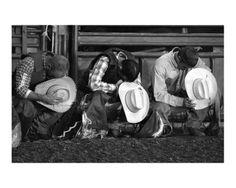 During the prayer at a rodeo, I don't always bow my head & close my eyes, because this sight is priceless. <3