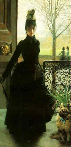 """An Elegant Lady"" by Vittorio Matteo Corcos  (1859-1933)"