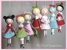 clothespin doll ornaments. cute!