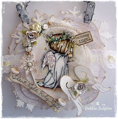 Debbie Dolphin: A truly beautiful Christmas card by Debbie Dolphin. Love this LOTV image and the sweet Magnolia wings. Clear Christmas Ornaments, Christmas Craft Fair, Christmas Fairy, Christmas Paper, Christmas Angels, All Things Christmas, Christmas Time, Winter Fairy, Beautiful Christmas Cards