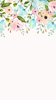 Ideas For Wallpaper Floral Watercolor Beautiful Flower Backgrounds, Phone Backgrounds, Wallpaper Backgrounds, White Wallpaper, Beautiful Wallpaper, Trendy Wallpaper, Picture Sharing, Screen Wallpaper, Watercolor Flowers