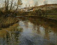 """""""River Landscape,""""Frits Thaulow"""