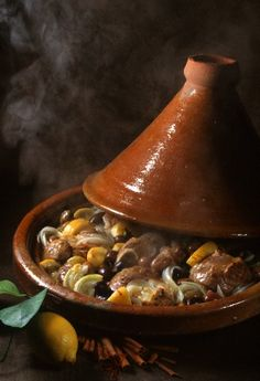 Lamb and confit (pickled) lemon Tajine, Morocco Morrocan Food, Moroccan Kitchen, Moroccan Dishes, Turkish Recipes, Ethnic Recipes, Moroccan Recipes, Arabic Food, Marrakech, Pot Roast