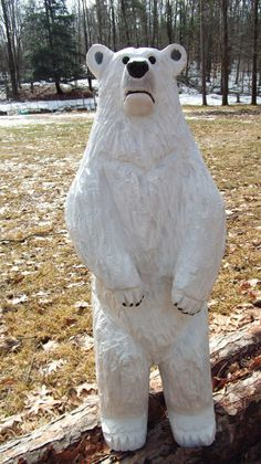 Hey, I found this really awesome Etsy listing at https://www.etsy.com/listing/184388081/chainsaw-carved-polar-bear