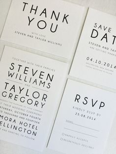 Printable Wedding Invitation Modern Suite RSVP by FalmariPaperCo