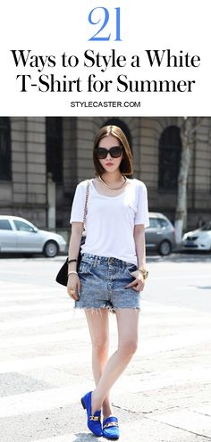 f70d284ac70d How to Wear a Plain White T-Shirt  20 Stylish Ways