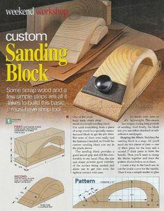 #1071 DIY Sanding Block - Sanding Tips, Jigs and Techniques