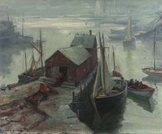 """Motif # 1 Rockport"", Emile Albert Gruppe, oil on canvas, 30 x 36"", Private collection."