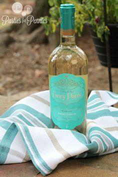 Hostess gift - wine wrapped dishtowel