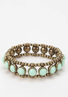 Gold & mint ring