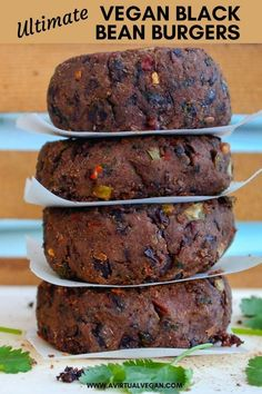 Vegan Black Bean Burgers with hints of lime & a slight chili kick. Satisfying, healthy, flavour packed & not mushy! Delicious Vegan Black Bean Burgers with hints of lime & a slight chili kick. Satisfying, healthy, flavour packed & not mushy! Vegan Foods, Vegan Dishes, Vegan Vegetarian, Vegetarian Recipes, Healthy Recipes, Vegan Meals, Vegan Black Bean Recipes, Paleo, Cheap Recipes