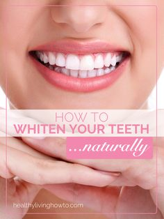 How To Whiten Your Teeth Naturally | healthylivinghowto.com 2 organic strawberries 1/2 tsp. baking soda, or enough to form a paste