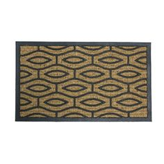 Tan And Black Green Terrace Door Mat Door Mats Rugs Home Decor