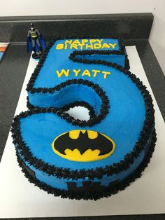 #5 Batman Birthday Cake