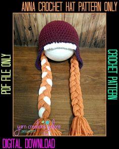 Anna Hat Crochet Pattern PDF File by YarnCreationsGalore on Etsy