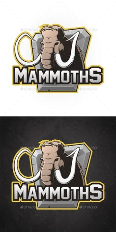 Vector Cartoon Emblem of Mammoth Cartoon emblem of mammoth. Vector illustration #Cartoon, #Vector, #Mammoth, #Emblem Pub Decor, Elephant Logo, Mundo Comic, Extinct, Esports, Logos, Resume Templates, Logo Design, Basketball