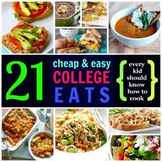 College Eats: 21 Classic Eats Every College Kid Can Cook---maybe I should learn to cook....
