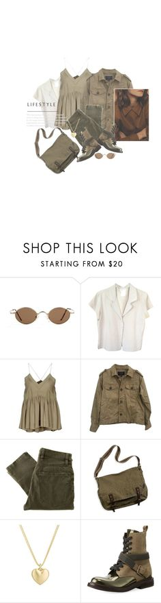 """""""Le Petit Coeur En Or / The Little Gold Heart"""" by halfmoonrun ❤ liked on Polyvore featuring agnès b., Vanessa Bruno, J.Crew, Nudie Jeans Co., American Eagle Outfitters, Finn and Brunello Cucinelli"""