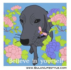 """Sketch of the day no 244: Poppy inspirational poster """"Believe in yourself"""""""