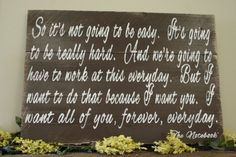 Pallet Sign Wedding Anniversary Primitive Wood Distressed Wood Home Decor Wall Art Rustic The Notebook Quote Handpainted Sign Rustic Vintage...