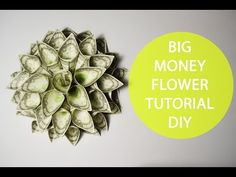 Big Money Flower Origami Tutorial Folded DIY No glue Decoration. This origami is very easy and simple. You can use real money. Origami without using glue. The beautiful flower is an excellent decoration for any house and as Money Rose, Money Lei, Money Origami, Big Money, Origami Instructions, Origami Tutorial, Flower Tutorial, Origami Rose, Origami Flowers