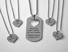 Deployment Necklace Set Family Deployment by LauriginalDesigns, $32.00