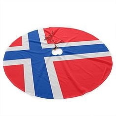 Amazon.com: SUCBUOTREE Norwegian Flag Christmas Tree Skirt Decorations - 36 Inches Large Tree Skirt Xmas Ornaments for Christmas Party Holiday Home Decor Indoor Outdoor: Home & Kitchen