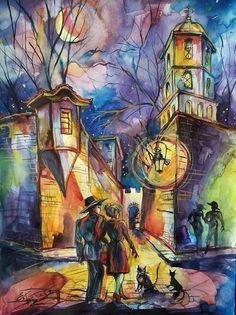 Midnight Walk in Plovdiv by Emil Angelov Belev