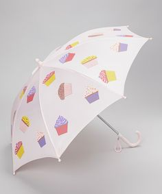 Take a look at this Pink Cupcake Umbrella by Foxfire on @zulily today! And I bought the matching rain coat and rain boots for my neice!!! <3 Uber Cuteness!!!