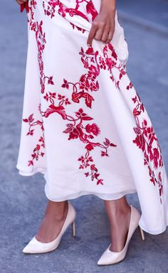 Embroidered Maxi Dress Cocktail Style by Vivaluxury