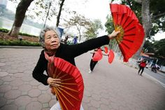 Image result for vietnamese fan dance