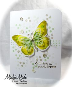 I just barely had time to join in the fun with the fabulous Darnell Knauss NBUS challenge! Butterfly Invitations, Butterfly Cards, Stampin Up Cards, Butterflies, Projects To Try, Wings, Watercolor, Paper, Floral