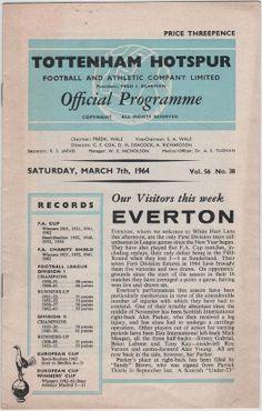 Vintage Football Programme - Tottenham Hotspur v Everton, 1963/64 season, by DakotabooVintage, £3.99
