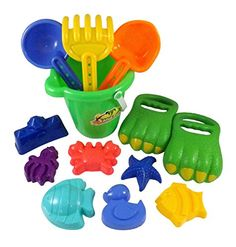 Dinosaur Sand Claws Beach Toy Set for Kids with Bucket, S...