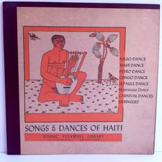 Songs & Dances of Haiti Vinyl Record LP 1952 Ethnic Folkways Library Folk African Drums Harold Courlander by vintagebaronrecords on Etsy