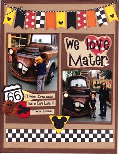 We Love Mater - Scrapbook.com